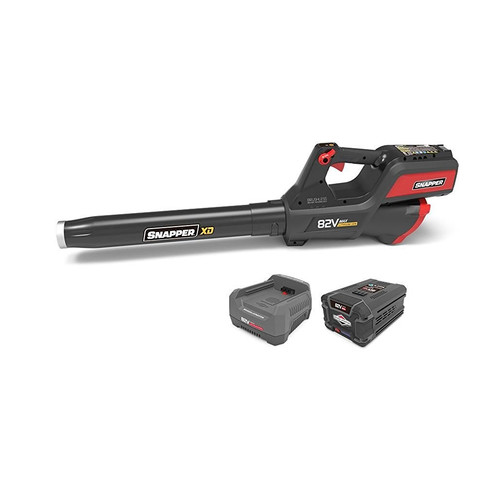 Snapper 1687879 82V Cordless Lithium-Ion 550 CFM Leaf Blower Kit with 2.0 Ah Battery & Rapid Charger