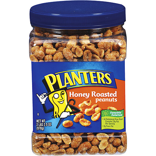 Planters Honey Roasted Party Size Peanut, 34.5 oz