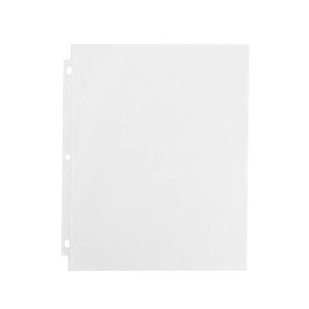 Durable Clear Presentation Sheet Protectors 200-Count, Fits 8.5 x 11 Paper - Reinforced Edge - 3 Hole Design - Top Load (13200) Oxford Top Load Sheet