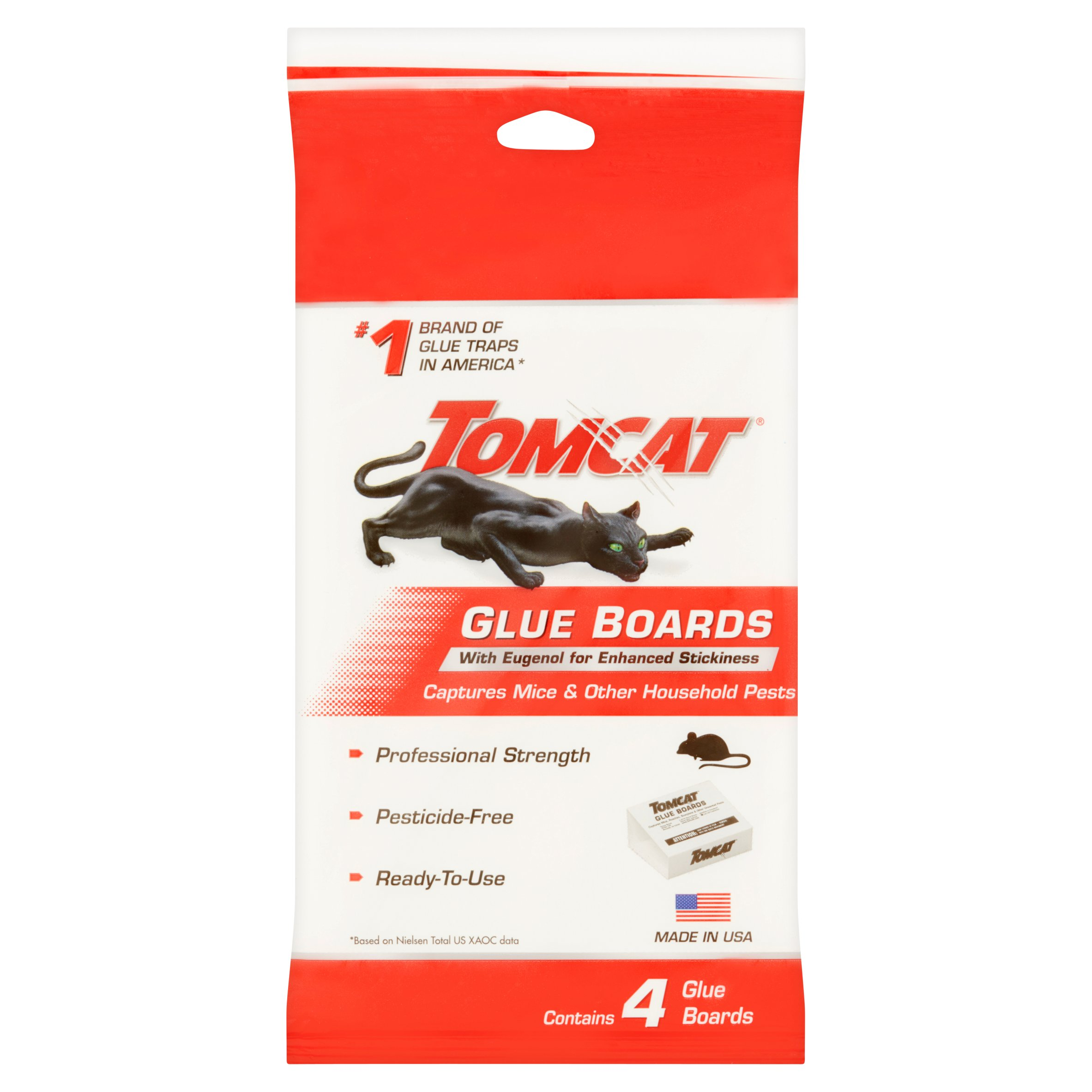 Tomcat Glue Boards with Eugenol for Enhanced Stickiness 4 pack