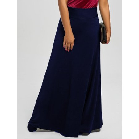 Casual High Waist Maxi Flare Skirts ()