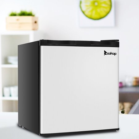 ZOKOP 1.1 cu. ft. Mini Size Portable Upright Freezer with Stainless Steel Door Frozen for Family Home Use