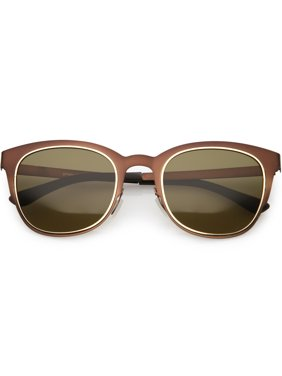 398ba56f44 Product Image Classic Horn Rimmed Metal Square Sunglasses Polarized Lens  50mm (Bronze   Brown)