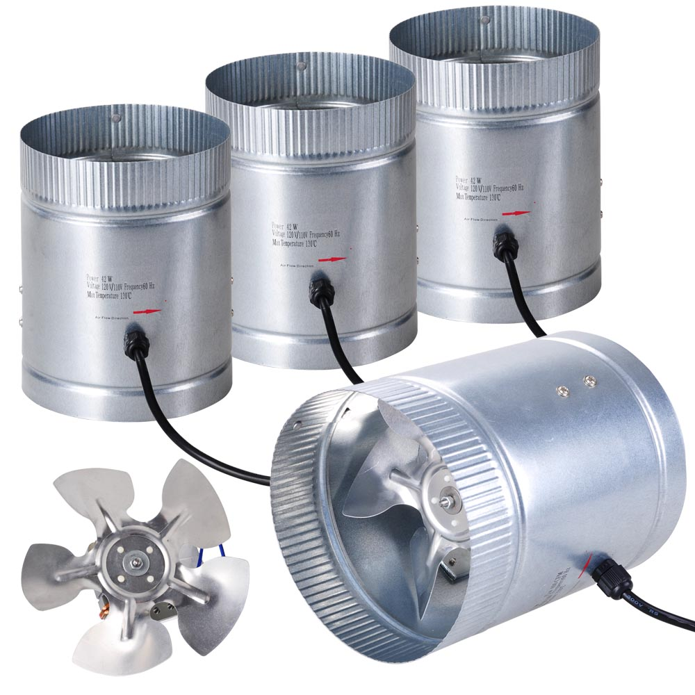 """4/"""" 6/"""" 8/"""" Inch Duct Booster Inline Blower Fan Blower Exhaust Ducting Cooling Vent"""