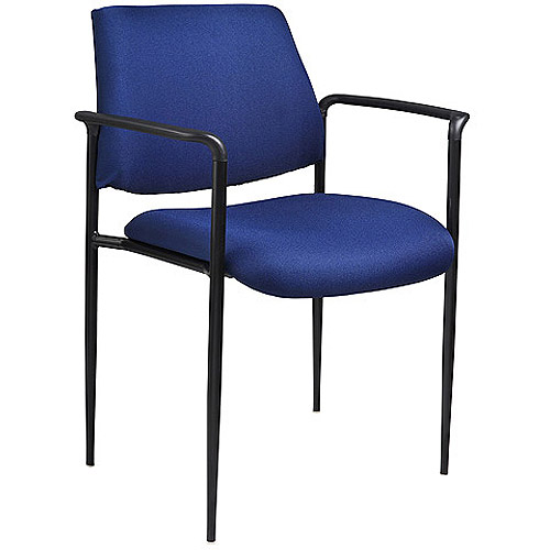 Boss Fabric Stack Chair with Molded Arm Caps, Multiple Colors