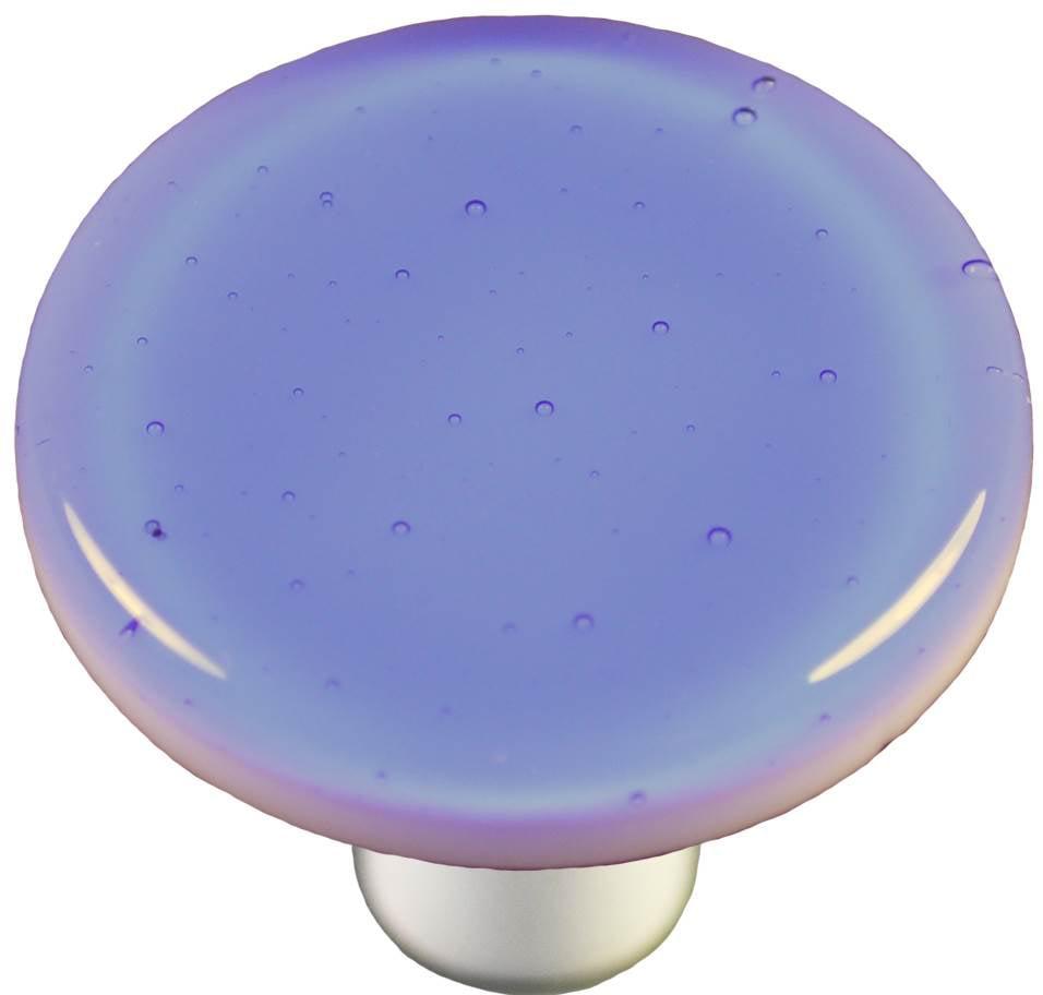 Round Knob in Light Sky Blue (Aluminum)