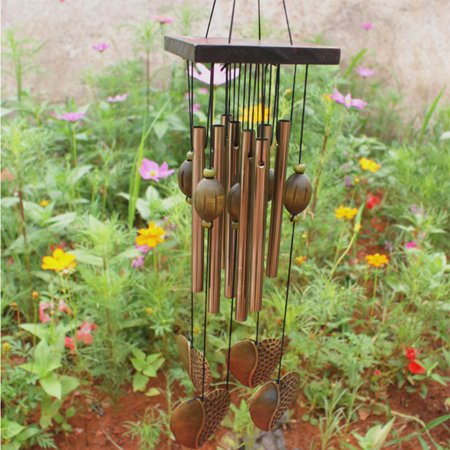 Sherral Garden Tubes Bells Bronze Wind Chime Home Yard Window Outdoor Decor (Outdoor Yard Decor)