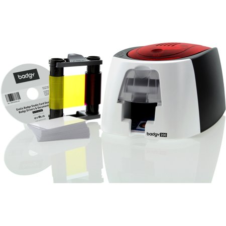Evolis Badgy200 Plastic ID Card Printer (Smart Id Card Printer Drivers For Windows 7)