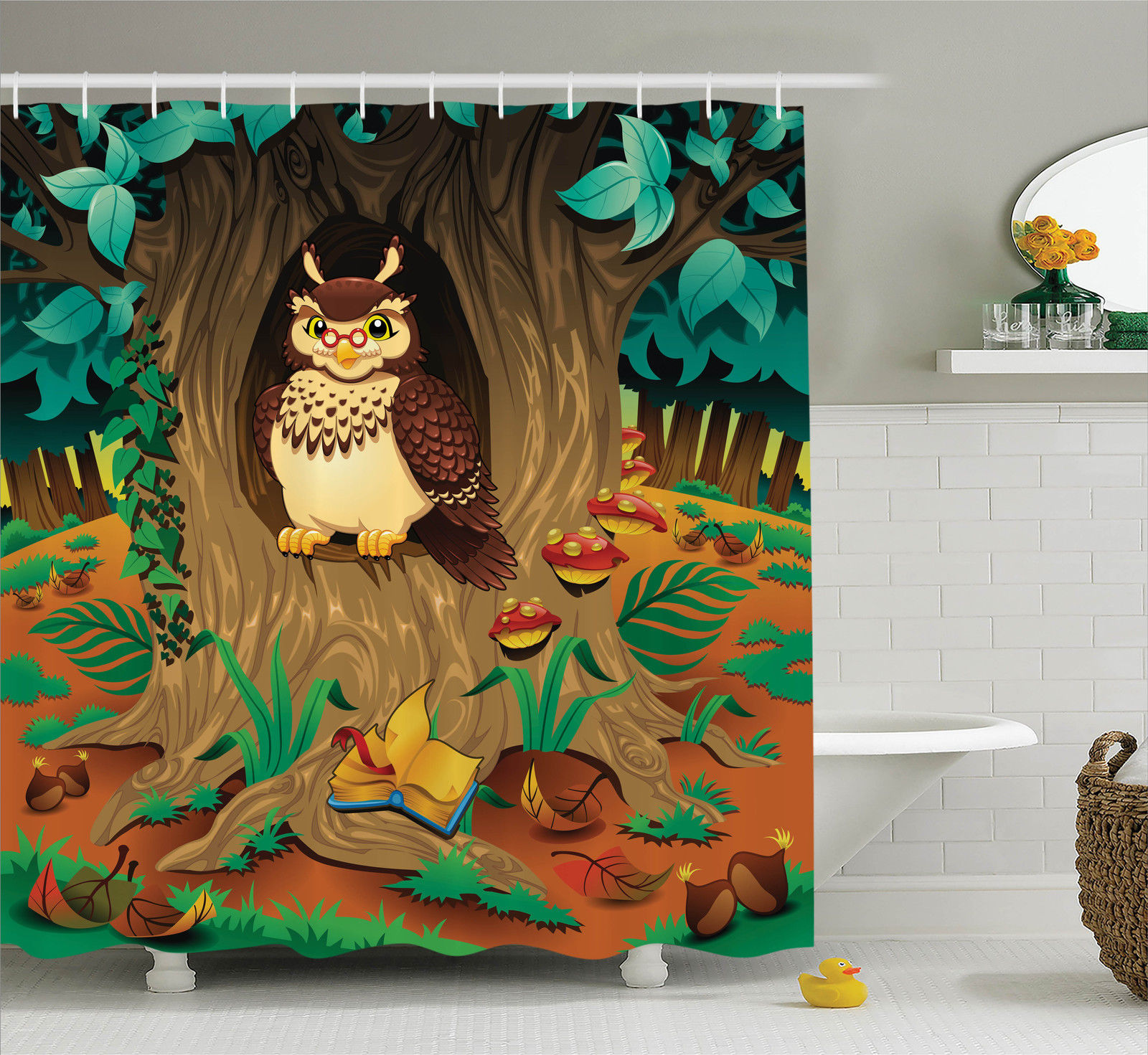 owl home decor accessories owls home decor shower curtain set wise nanny 11686