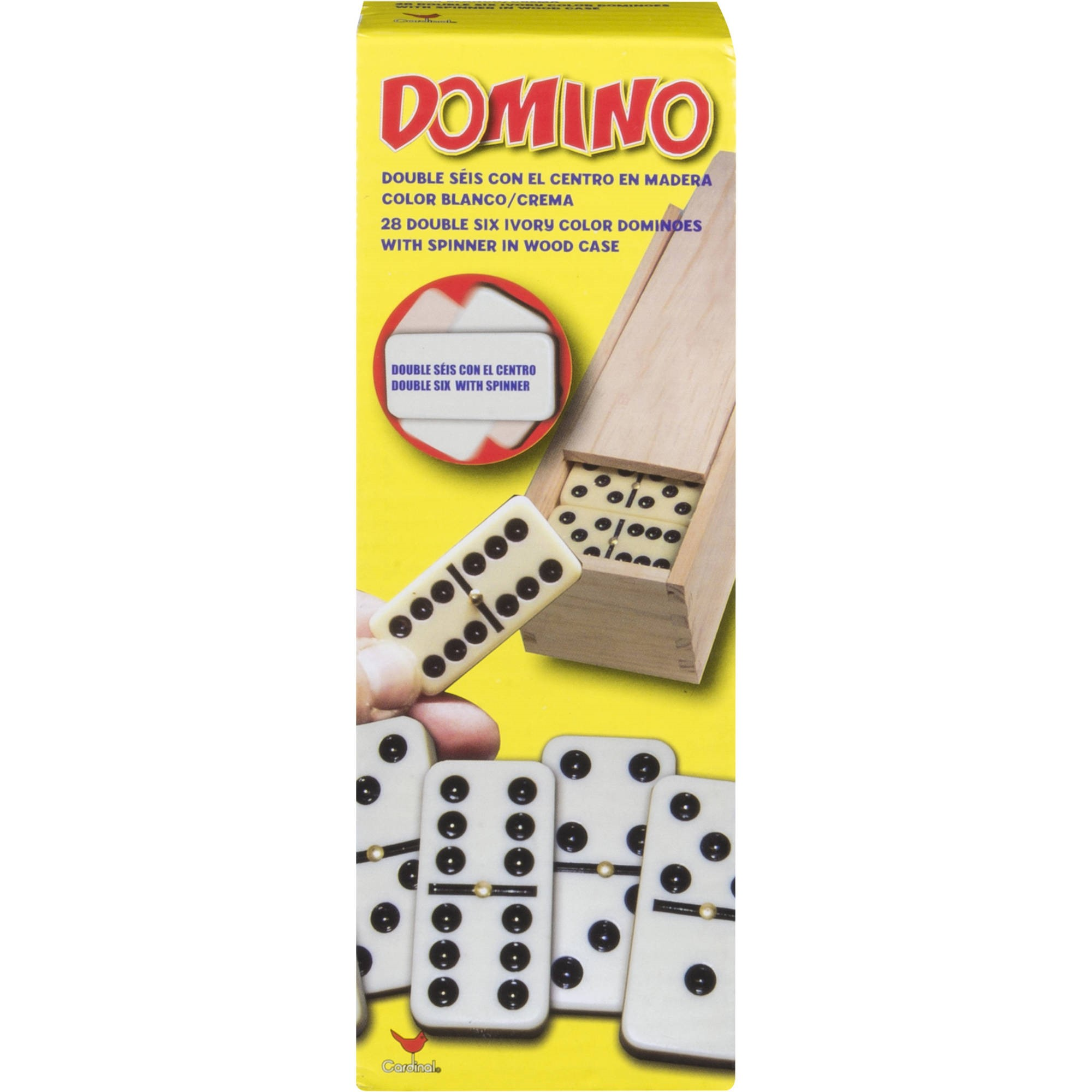 Cardinal Games - Dbl 6 Dominoes W/spinne