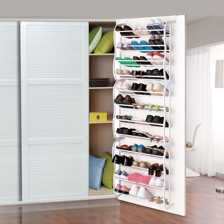 36 Pair Over The Door Hanging Shoe Rack Organizer Storage Closet Boot Stand New
