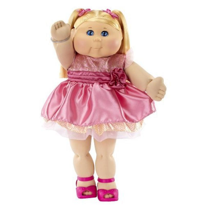 FAO Exclusive Cabbage Patch Doll 30th Anniversary 20 inch Collector Kid Girl, Blond, Blue Eyes by