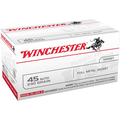 Winchester 45 Automatic 230 Grain USA Full Metal Jacket