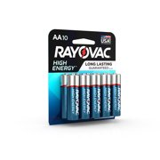 Rayovac High Energy Alkaline, AA Batteries, 10 Count