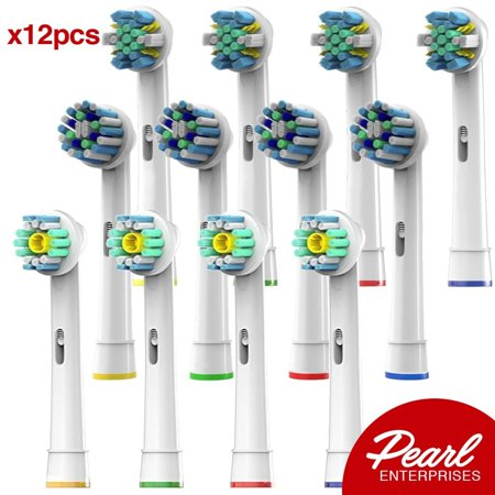 - Oral B Braun Compatible Replacement Brush Heads  Pack Of 12 Electric Toothbrush Assorted Heads - Includes 4 Floss Action, 4 Cross Action & 4 Pro White