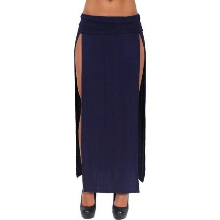 Women's Skirt Split Open Front Full Lenght Rayon Made in the USA - Schoolgirl In Skirt