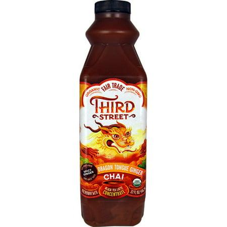 Third Street Organic Chai Black Tea Concentrate Dragon Tongue Ginger -- 32 fl oz pack of