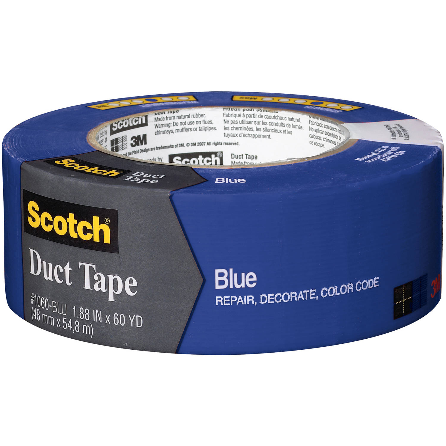 "3M 1060-BLU-A 1.88"" x 60 Yards Blue Scotch Duct Tape"