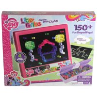 Lite Brite My Little Pony Edition With 4 Reusable Templates, 150+ Colored Pegs and 4 Different Light Effects
