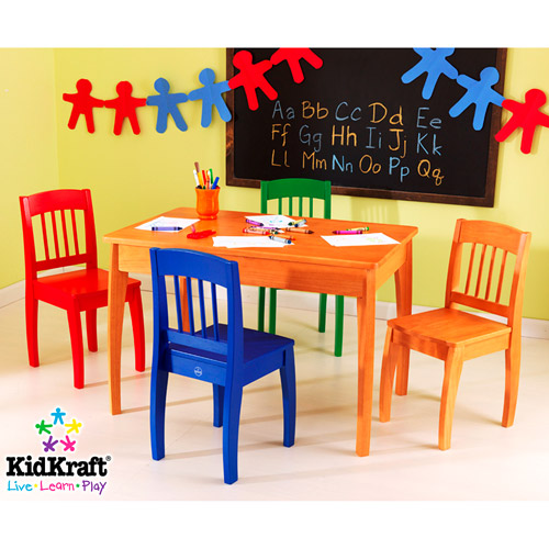 KidKraft - Euro Table & 4 Chair Set, Honey