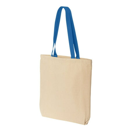 Liberty Bags -  Gusseted Cotton Canvas Tote with Colored Handle