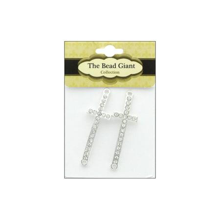 The Bead Giant Bead Cross Slim 2pc Silver](Giant Cross)