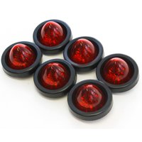 6 Red LED 2 Inches Marker Beehive Cone Lights Grommet and Pigtail Included