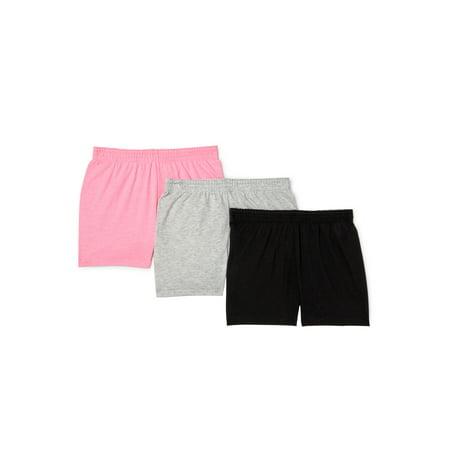Wonder Nation Girls Play Shorts, 3-Pack, Sizes 4-18 & Plus