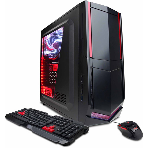 Draco Mid-Tower Gaming Case with DVD+/-RW Drive, Bundle Only, Black