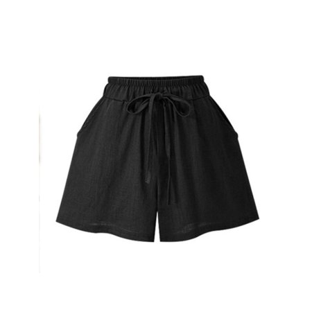 Womens High Waisted Shorts Summer Plus Size Casual Beach Girl Short Hot (M&p 15 22 10 Round Short Magazine)