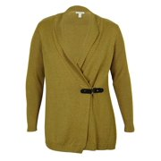 Charter Club Buckle Detailed Cardigan-Sweater (Toffee Heather, 0X)