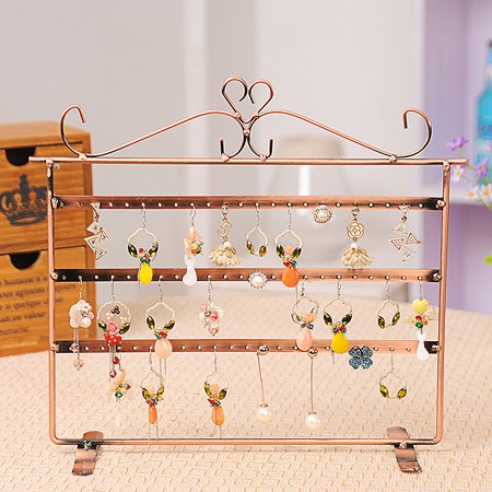 72 Holes Upgrade Jewelry Display Rack Organizer Holder Earrings Metal Stand Necklace Holder Jewelry Tree - Store Fixtures & Equipment/Jewelry Displays/Earring Holders ()