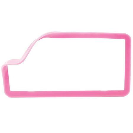 (Stretchable License Frame Trim, Pink)