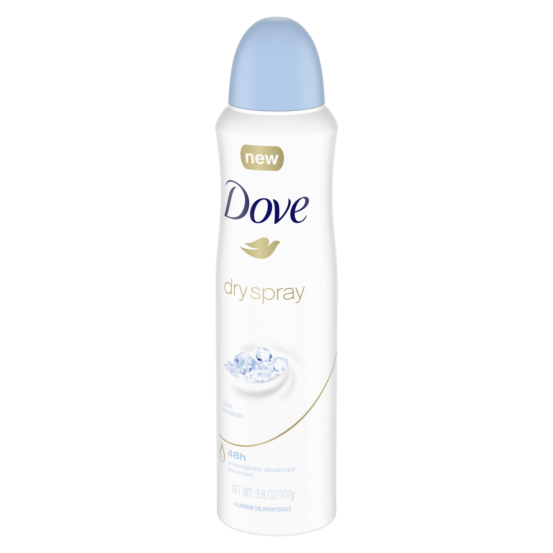 Dove Dry Spray Antiperspirant Deodorant For Women Clear Minerals 3 8 Oz Walmart Com Walmart Com