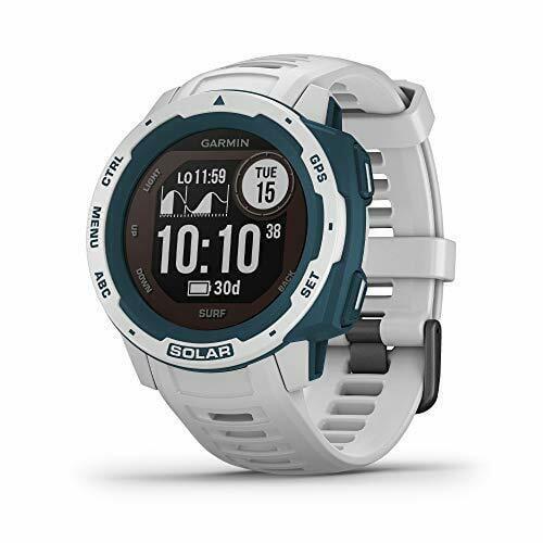 Garmin Instinct Solar Surf, Solar-Powered Rugged GPS Smartwatch -Cloudbreak-