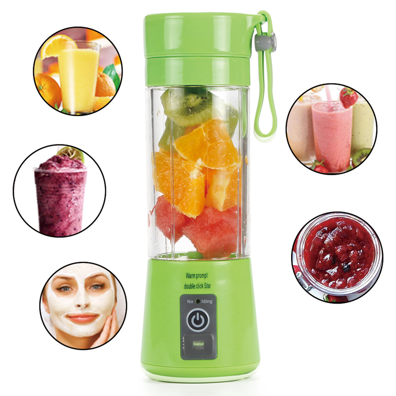380ml Mini USB Electric Fruit Juicer Handheld Smoothie Maker Blender Bottle Juice Cup
