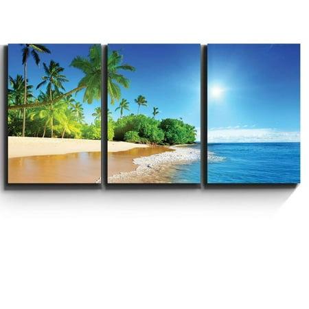 Tropical Wall Decor - wall26 - Palm Trees on Tropical Beach - Canvas Art Wall Decor - 16