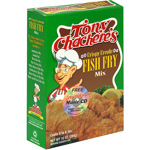 Tony Chachere's Crispy Creole Fish Fry Mix, 10 oz (Pack of 12)