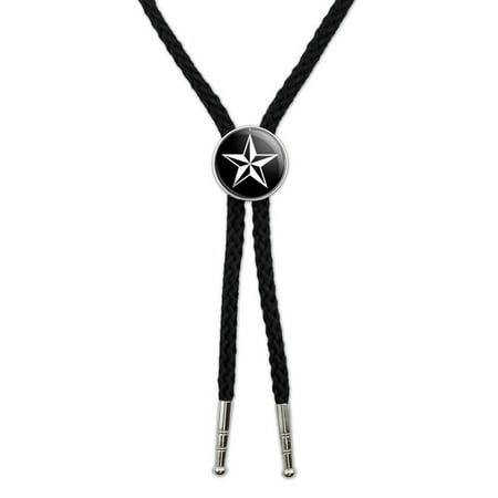 Nautical Star - Black Southwestern Bolo Tie - Nautical Tie