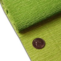 """Green Tea Crepe Paper 19"""" X 3yd by Paper Mart"""