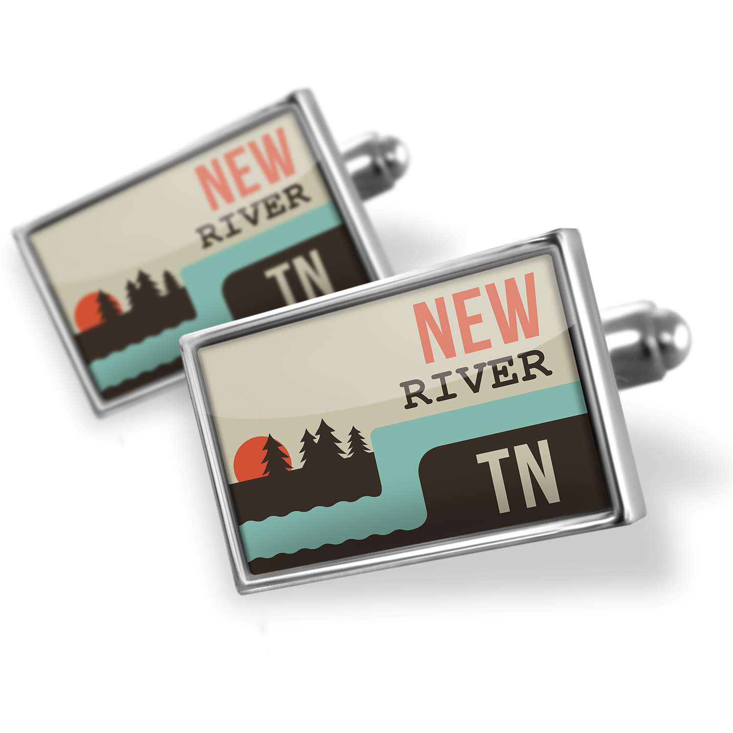 Cufflinks USA Rivers New River - Tennessee - NEONBLOND