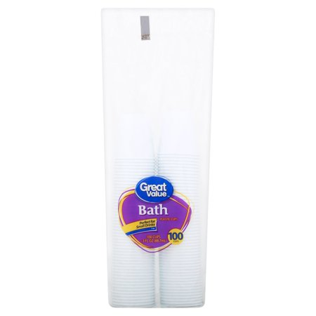 Great Value Bath Plastic Cups, 3 oz, 100 Count - Champagne Cups