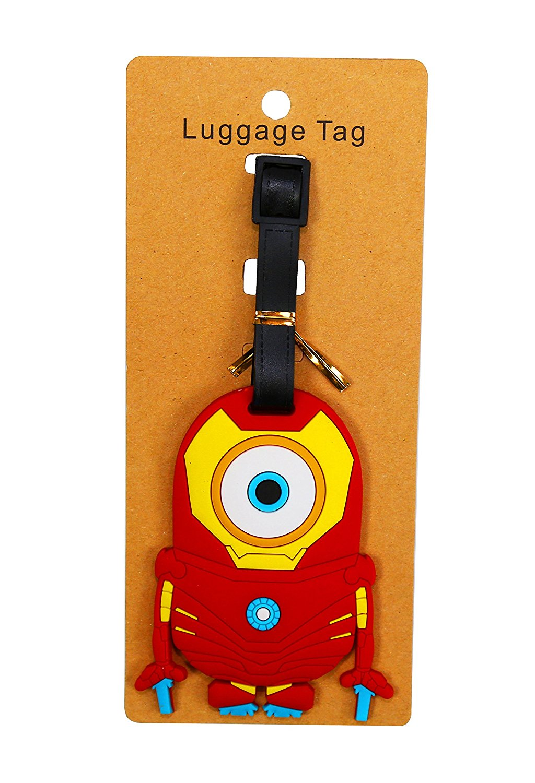 PALLION New Cute 3D Minions silica Baggage Luggage Tag