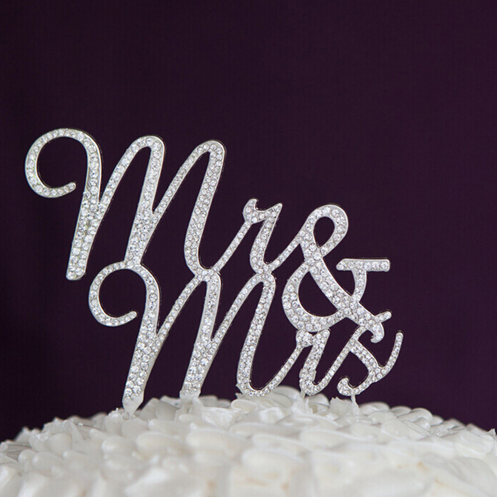 Crystal Rhinestone Bling Wedding Monogram Mr & Mrs Cake topper Wedding cake topper Bling Keepsake