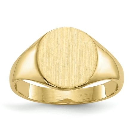 14K Yellow Gold Signet Ring - image 5 de 5