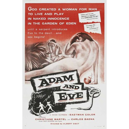 Adam and Eve POSTER Movie Mini Promo (Adam And Eve Halloween Costume Couples Costume)