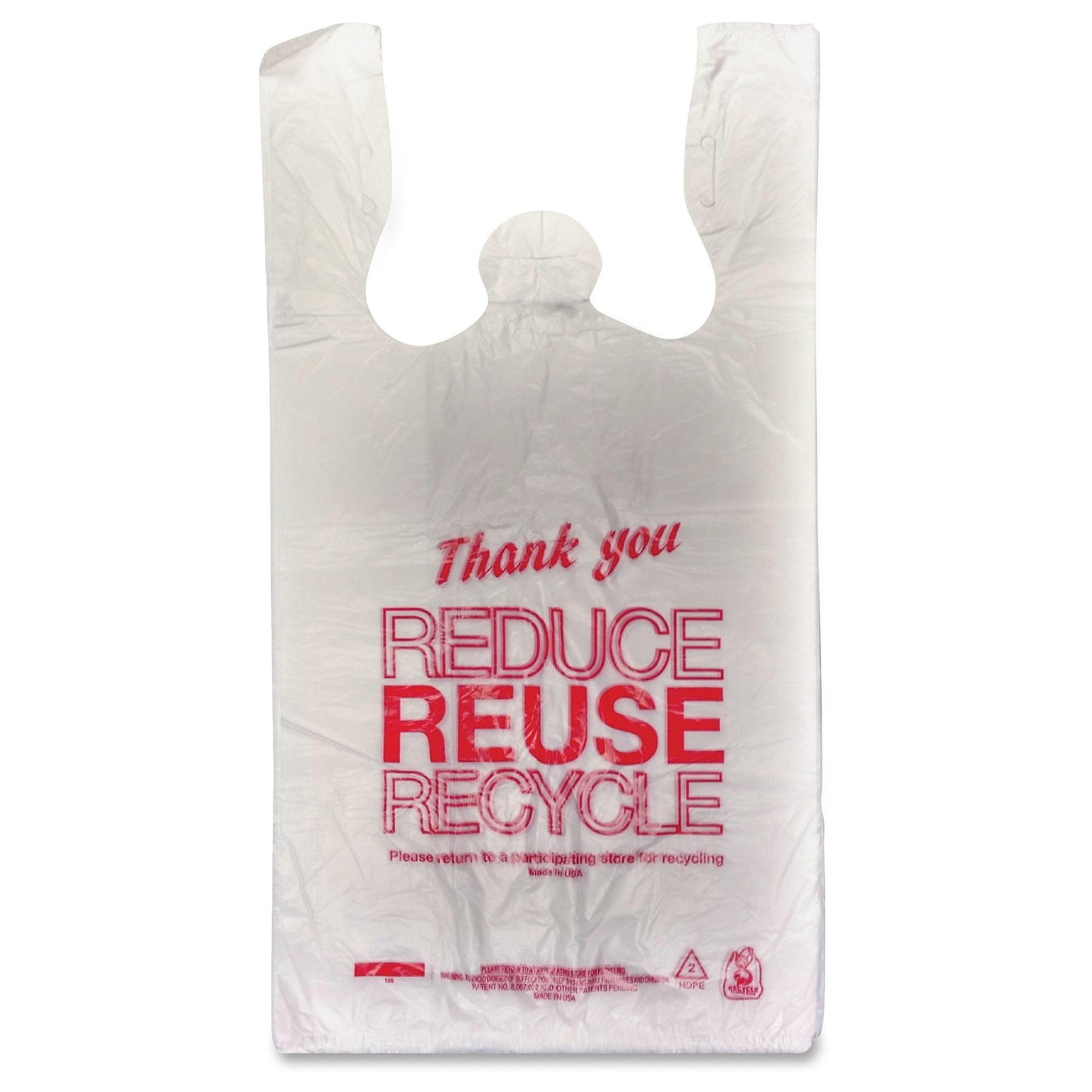 "Unistar Plastics Thank You Eco-friendly Bag - 11.50"" X 21.50"" X 6.50"" - 47 Mil [1194 Micron] Thickness - Red - Plastic - 1000/carton (upl-13671368)"