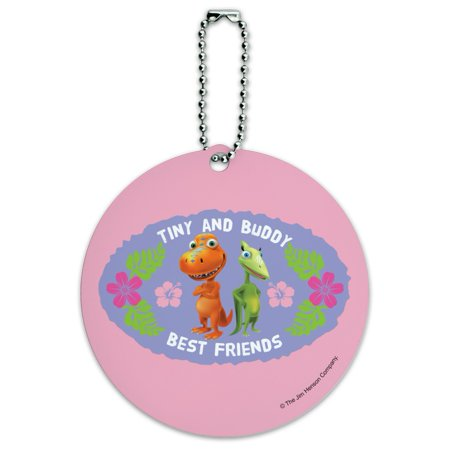 Tiny Buddy Best Friends BFF Dinosaur Train Round Luggage ID Tag Card Suitcase