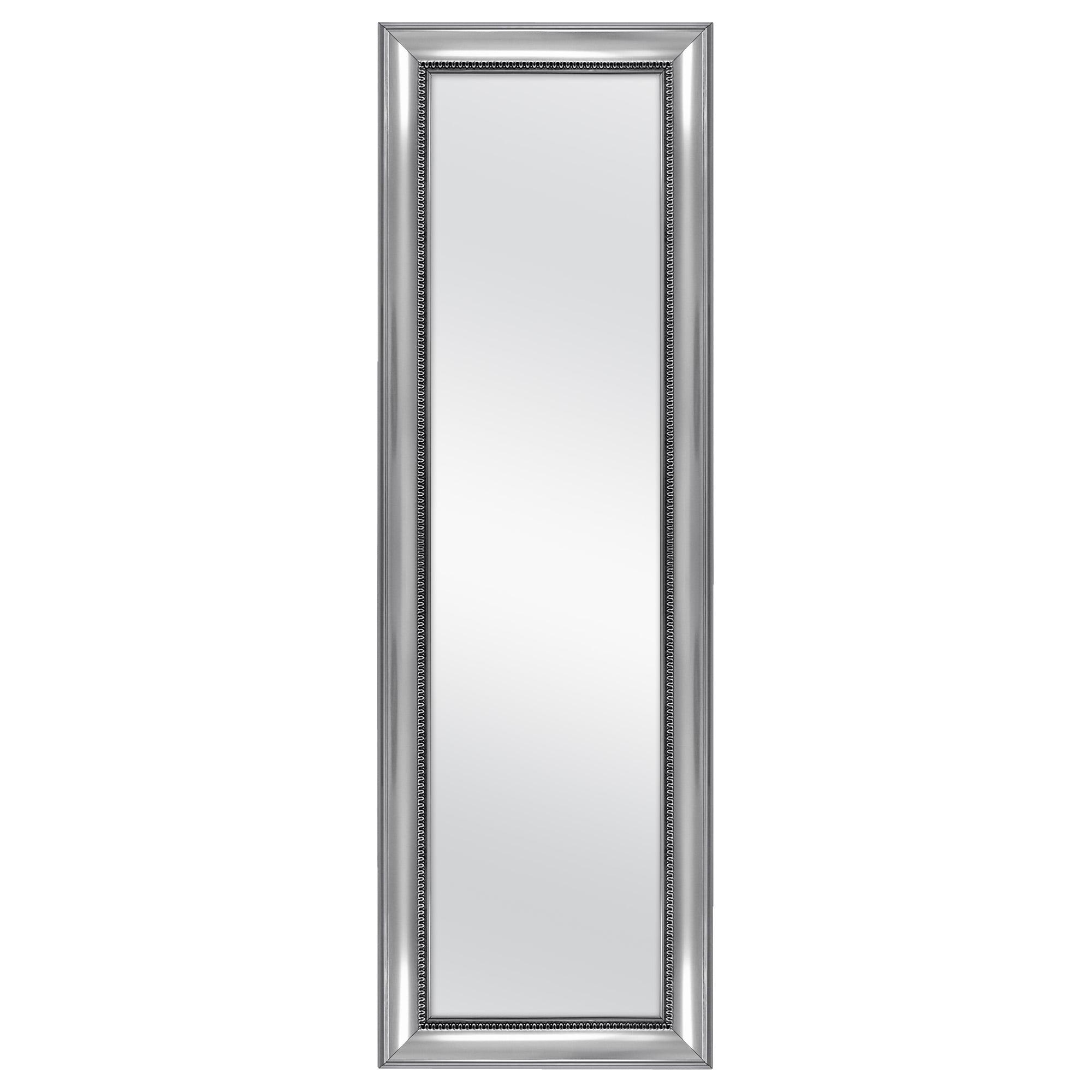 13 in x 49 in Framed Door Mirror White Full Length Dorm Bedroom Office Home NEW