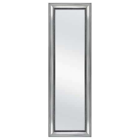 "Mainstays Over-the-Door Wall Mirror, Silver Ornate Finish, 17"" x 53"","
